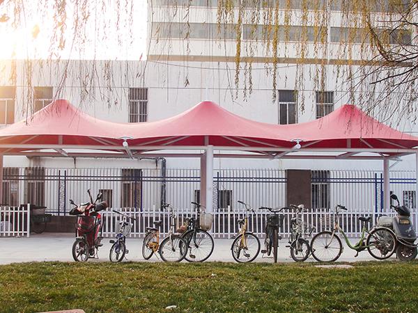 自行车膜结构车棚